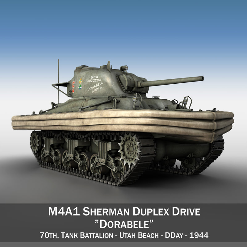 m4a1 sherman duplex drive 3d c4d