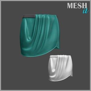 skirt green 3d model
