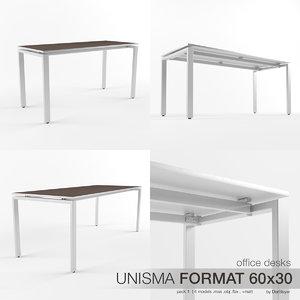 3d model office desks unisma format