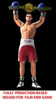 boxer rigg 3d model
