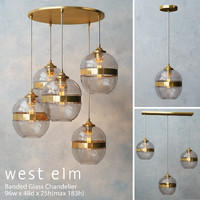 West Elm Banded Glass Chandelier