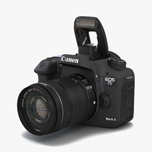 canon eos 7d mark 3d model