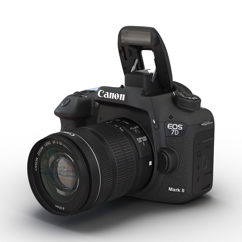 canon eos 7d mark 3d model