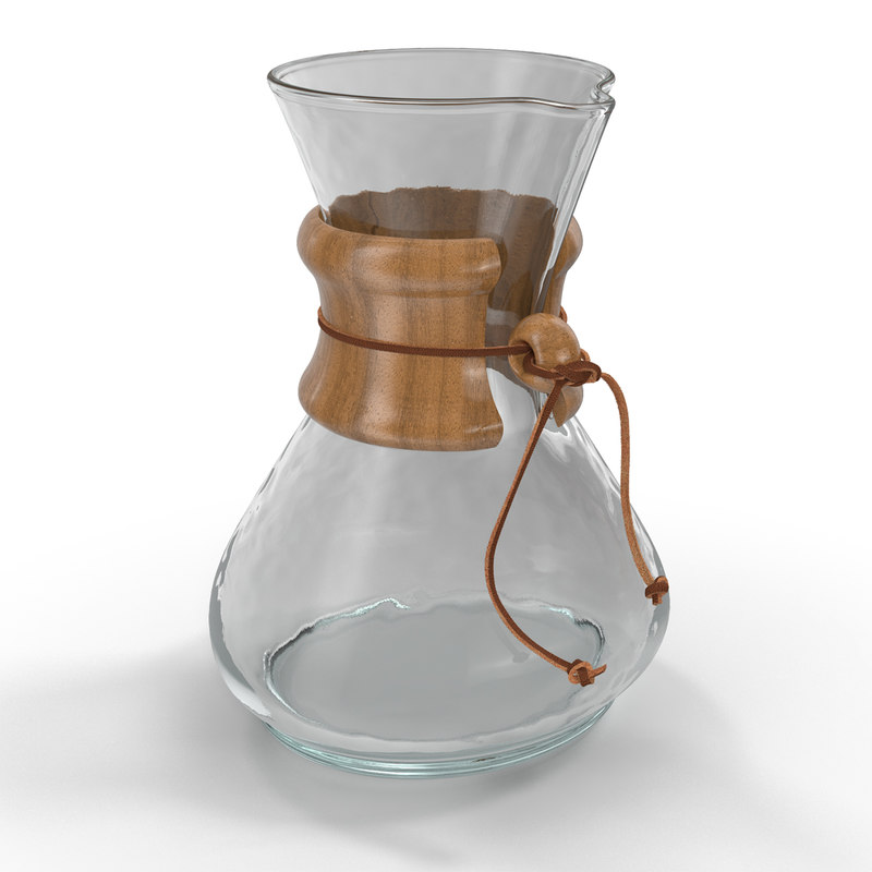 3d glass coffee carafe model