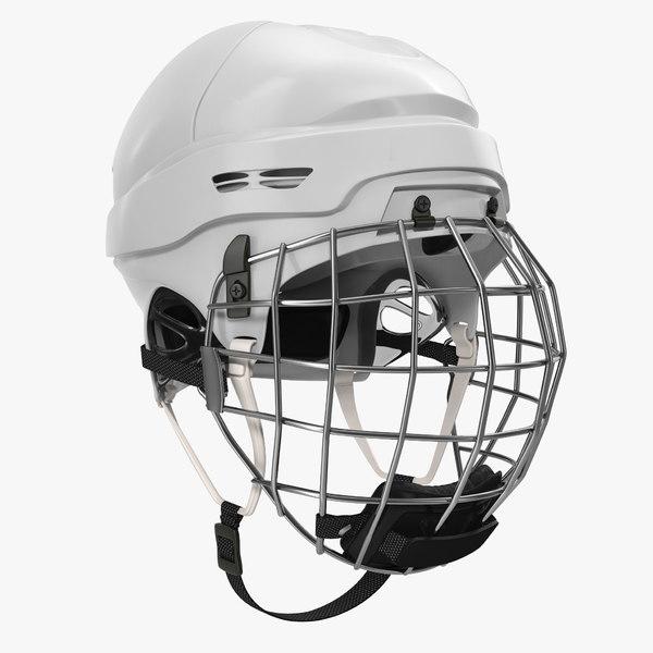 3d model of ice hockey helmet generic