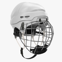 3d model of ice hockey helmet generic