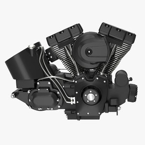3ds motorcycle engine 3