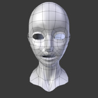 Low-poly Head Base Mesh