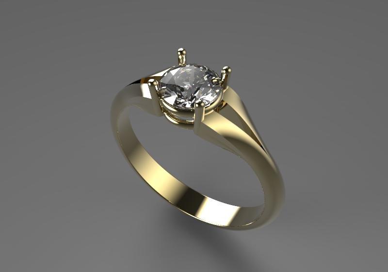 beautiful diamond ring 3d model