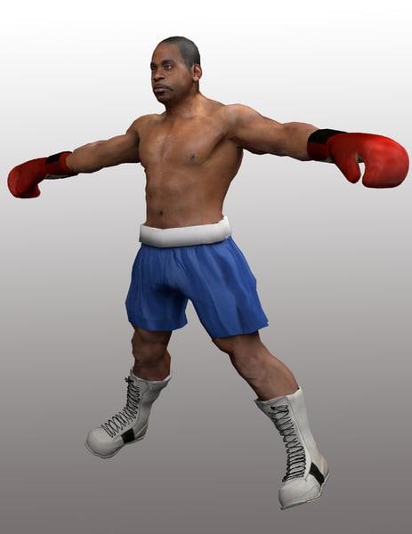 boxer 3d fbx