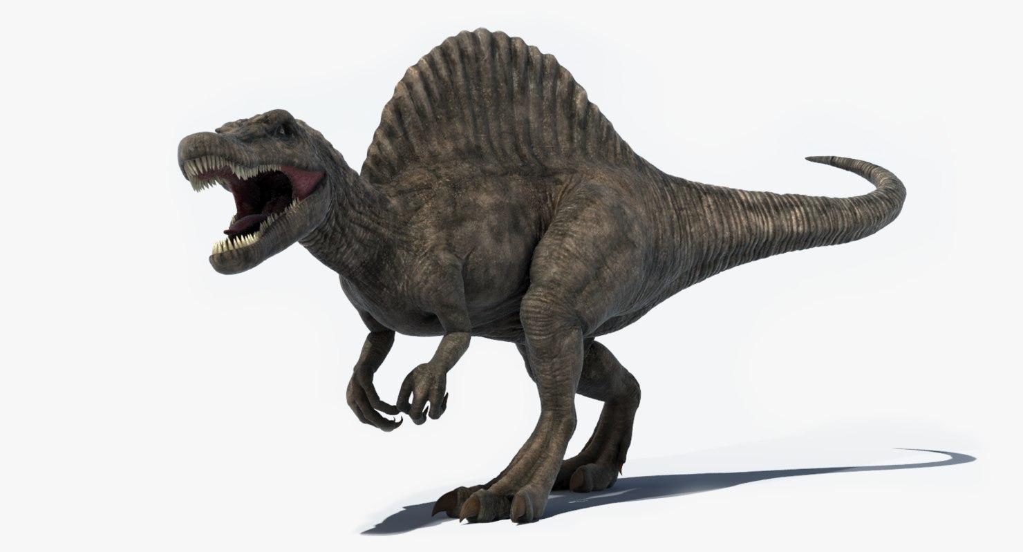 realistic spinosaurus rigged 3d model