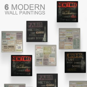 wall paintings 3d model