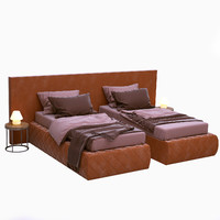 bed meridiani 3d max