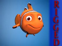 Rigged cartoon fish