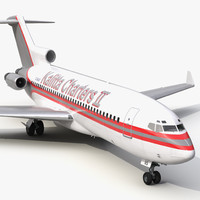 Boeing 727-100 Private Kalitta Air 3D Model