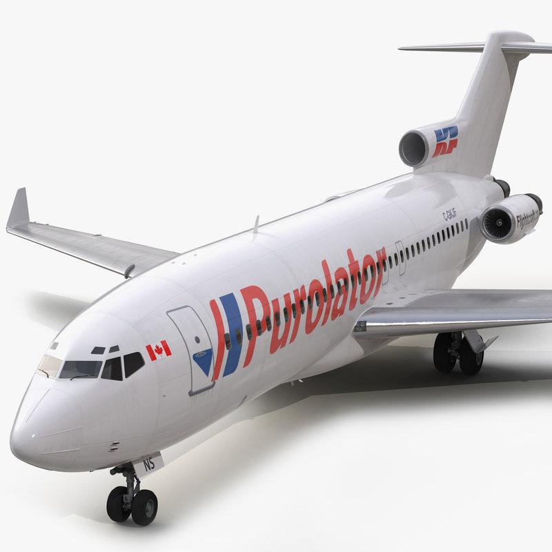 boeing 727-100 private kelowna 3d model