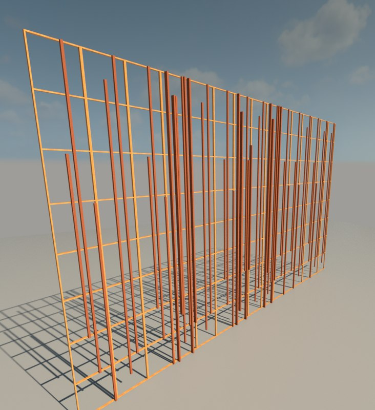 curtain wall sticks 3d model