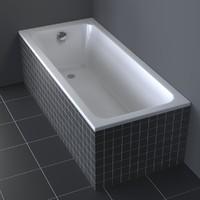 photorealistic duravit d-code bathtub obj
