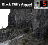 3d black cliffs 16k