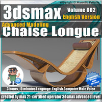 3dsmax Advanced Modeling Chaise Longue English Volume 002