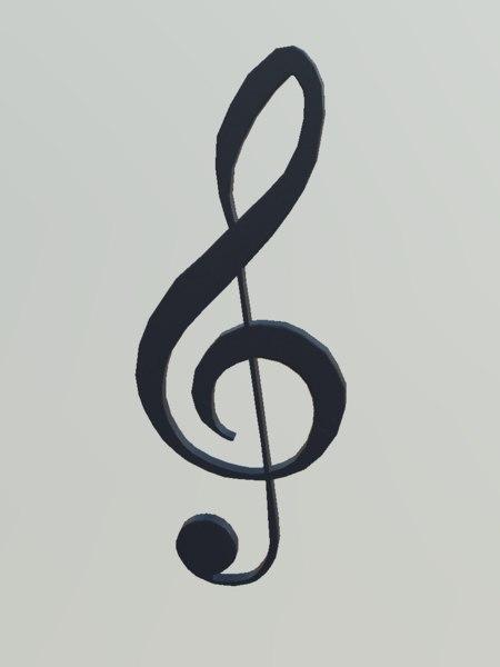obj treble clef
