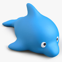 3d rubber whale model