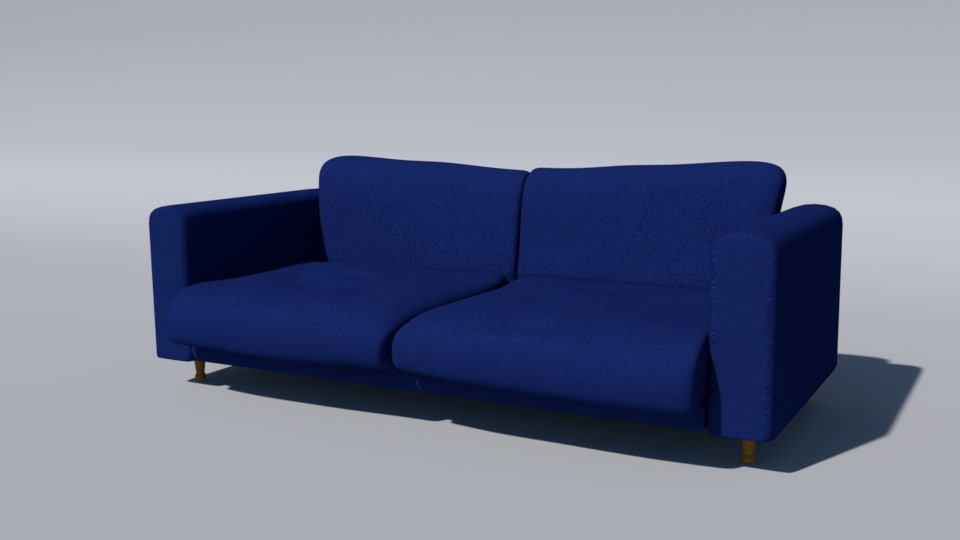 3d model couch blue