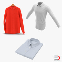 shirts men formal 3d model
