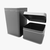 tin boxes 3d model