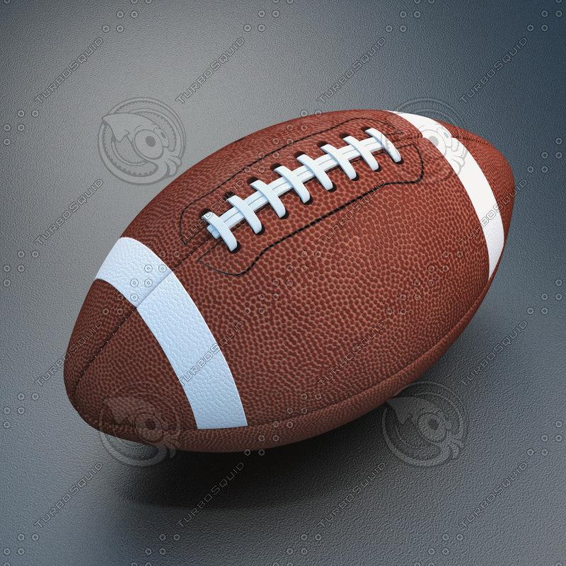 3d model of football white