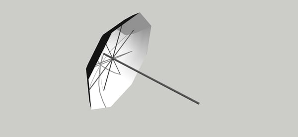 dxf paraguas iluminacion