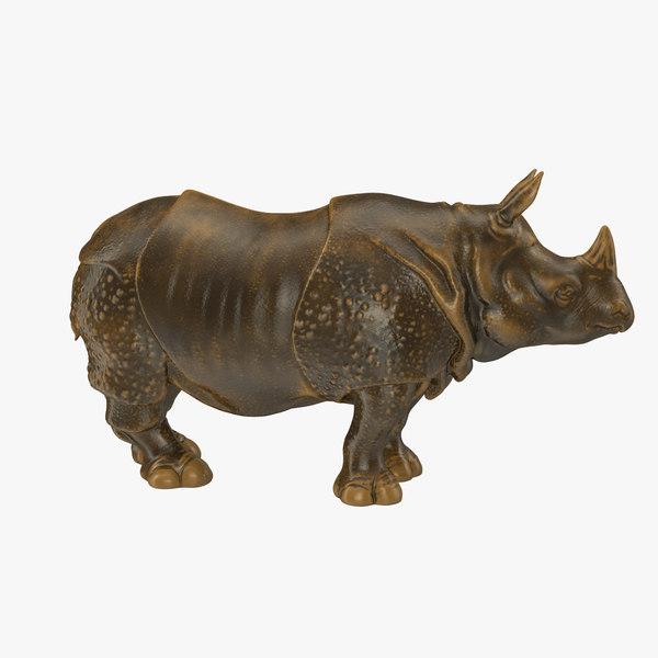 3d rhino statue