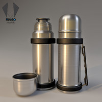 inox bottle thermos 1 3d model