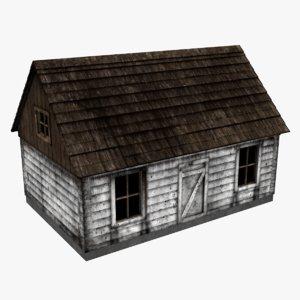 3d cabin old