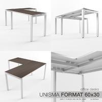 Office Desks Unisma Format 60x30 (pack 3)