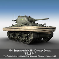 m4 sherman mk iii 3d model