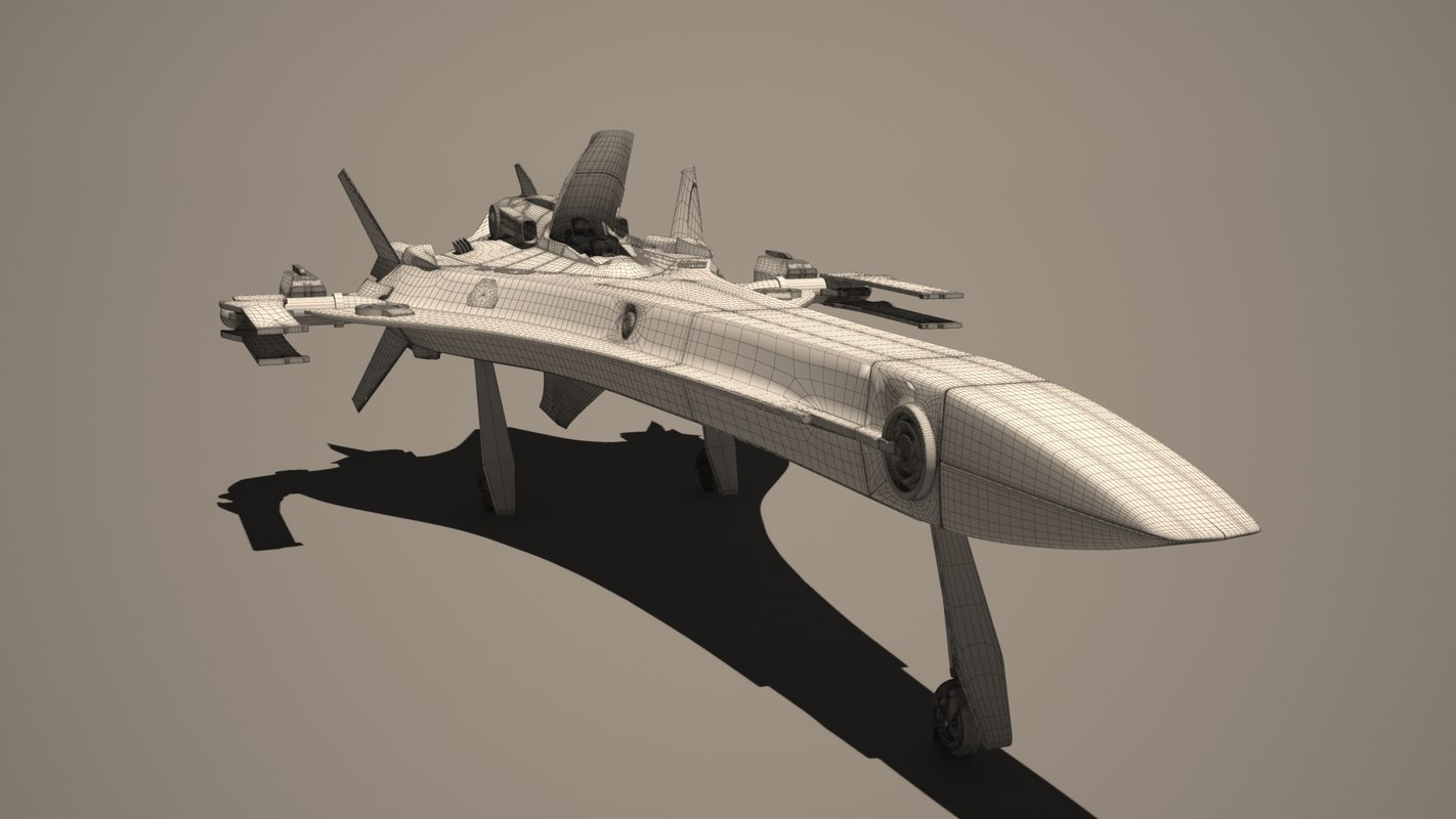 military spacecraft 3d max