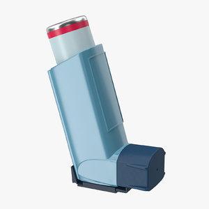 asthma inhaler 3d c4d