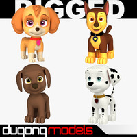rigged cartoon dog max