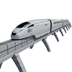 futuristic train 3d model