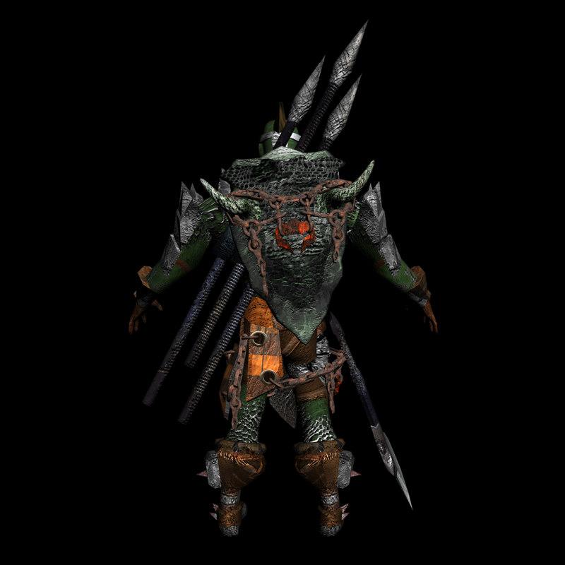 3d model orc armor
