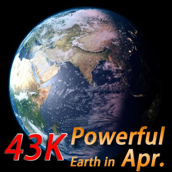 powerful earth april 3d model