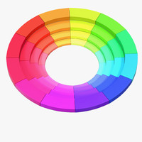 3d model color wheel