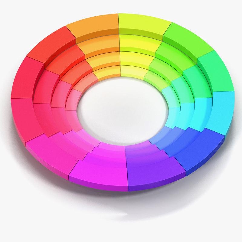 3d model color wheel