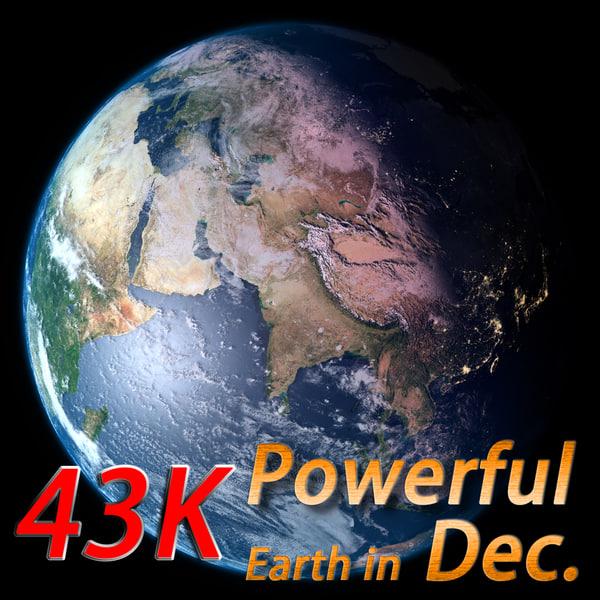 3d model powerful earth december