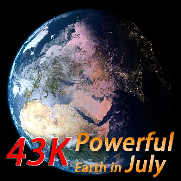 3d model powerful earth july