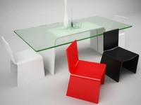 3d egos table eleonora chair model