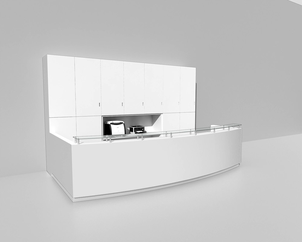 reception desk obj