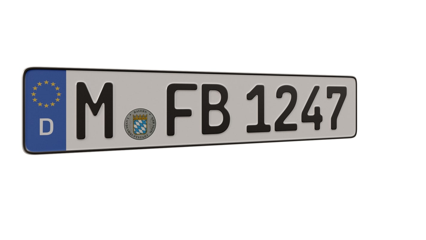 3d license plate german