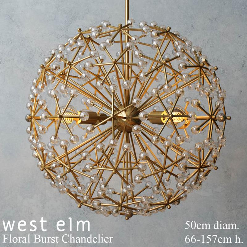 3d model of west elm floral burst